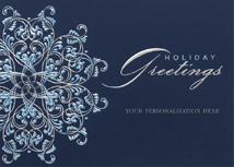 Gleaming Snowflake Holiday Cards